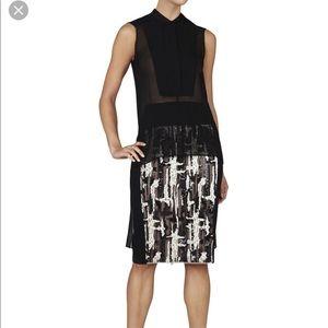 BCBG Maxazaria black 100% silk sheer blouse